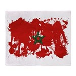 Morocco Flag Throw Blanket