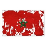 Morocco Flag Sticker (Rectangle 50 pk)
