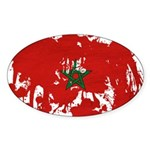Morocco Flag Sticker (Oval 50 pk)