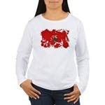 Morocco Flag Women's Long Sleeve T-Shirt