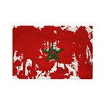 Morocco Flag Rectangle Magnet (100 pack)