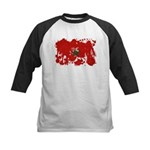 Morocco Flag Kids Baseball Jersey