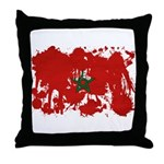 Morocco Flag Throw Pillow