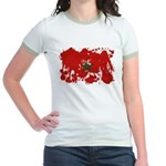 Morocco Flag Jr. Ringer T-Shirt