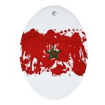 Morocco Flag Ornament (Oval)