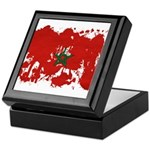 Morocco Flag Keepsake Box