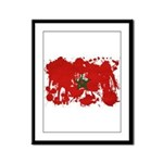 Morocco Flag Framed Panel Print
