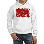 Morocco Flag Hooded Sweatshirt