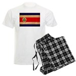 Costa Rica Flag Men's Light Pajamas