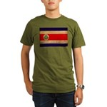 Costa Rica Flag Organic Men's T-Shirt (dark)
