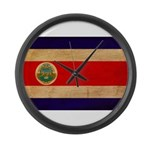 Costa Rica Flag Large Wall Clock