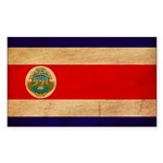 Costa Rica Flag Sticker (Rectangle 50 pk)