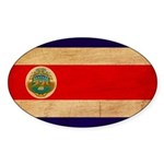 Costa Rica Flag Sticker (Oval 50 pk)