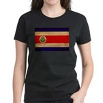Costa Rica Flag Women's Dark T-Shirt