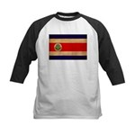 Costa Rica Flag Kids Baseball Jersey