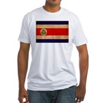 Costa Rica Flag Fitted T-Shirt