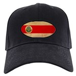 Costa Rica Flag Black Cap