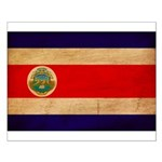 Costa Rica Flag Small Poster