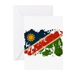 Namibia Flag Greeting Cards (Pk of 10)