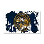 Nebraska Flag Car Magnet 20 x 12