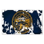 Nebraska Flag Sticker (Rectangle 10 pk)