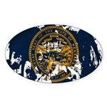 Nebraska Flag Sticker (Oval 10 pk)