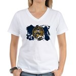 Nebraska Flag Women's V-Neck T-Shirt