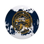 Nebraska Flag Ornament (Round)