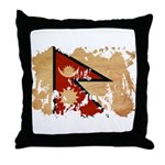 Nepal Flag Throw Pillow