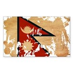 Nepal Flag Sticker (Rectangle)