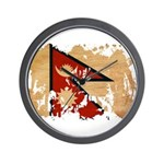 Nepal Flag Wall Clock