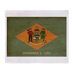 Delaware Flag Throw Blanket