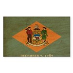 Delaware Flag Sticker (Rectangle 10 pk)