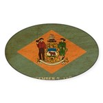 Delaware Flag Sticker (Oval 10 pk)