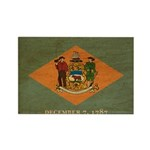 Delaware Flag Rectangle Magnet (100 pack)