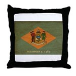 Delaware Flag Throw Pillow