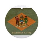 Delaware Flag Ornament (Round)