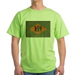 Delaware Flag Green T-Shirt