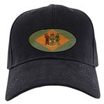 Delaware Flag Black Cap