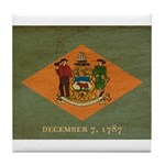 Delaware Flag Tile Coaster