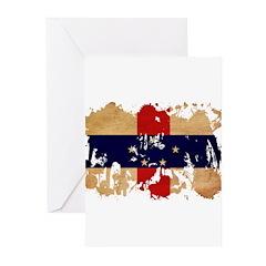 Netherlands Antilles Flag Greeting Cards (Pk of 10