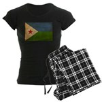 Djibouti Flag Women's Dark Pajamas