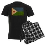Djibouti Flag Men's Dark Pajamas