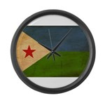 Djibouti Flag Large Wall Clock