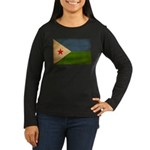 Djibouti Flag Women's Long Sleeve Dark T-Shirt