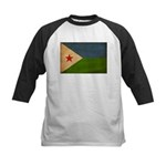 Djibouti Flag Kids Baseball Jersey
