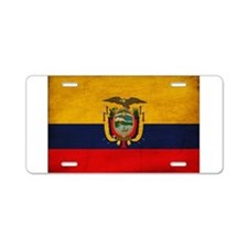 Ecuador Flag Aluminum License Plate