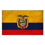 Ecuador Flag Sticker (Rectangle 10 pk)