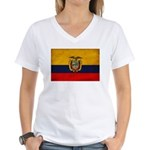 Ecuador Flag Women's V-Neck T-Shirt