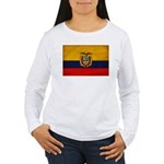 Ecuador Flag Women's Long Sleeve T-Shirt